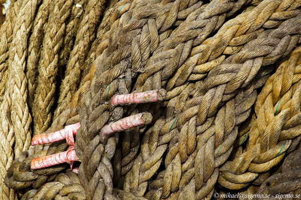 Pile of ropes